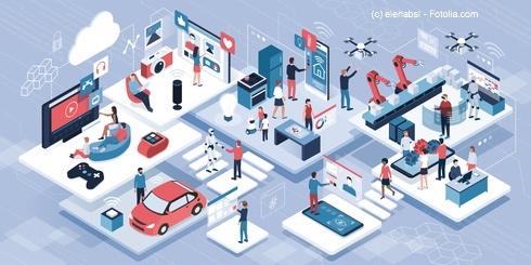 Das Internet der Dinge und das 5G-Netz soll in Zukunft alles mit allem und jeden verbinden.