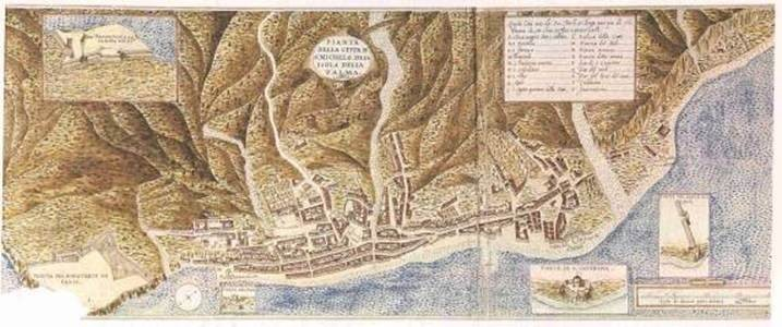Frontis Santa Cruz de La Palma, Leonardo Torriani 1587. Source: Gracias a Palmeros en El Mundo