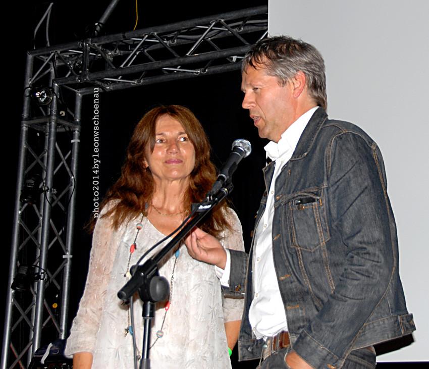 Sabine Willmann, Organisatorin des Festivals, im Gespräch über den Film mit dem Berliner Regisseur Joachim Jung