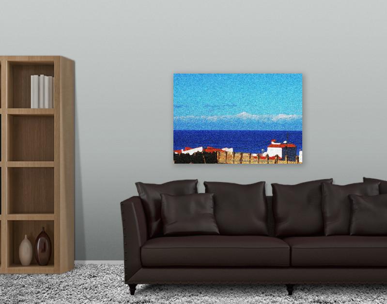 EDITIONCANARIAS - Künstlerische Leinwand 80 x 60 cm mit Einrichtungsbeispiel