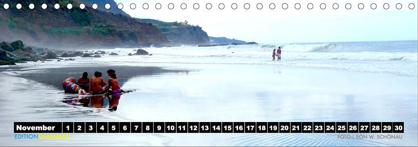 "Kalenderblatt November 2013 aus dem EDITIONCANARIAS- Tischkalender ""Vamos a la playa"""