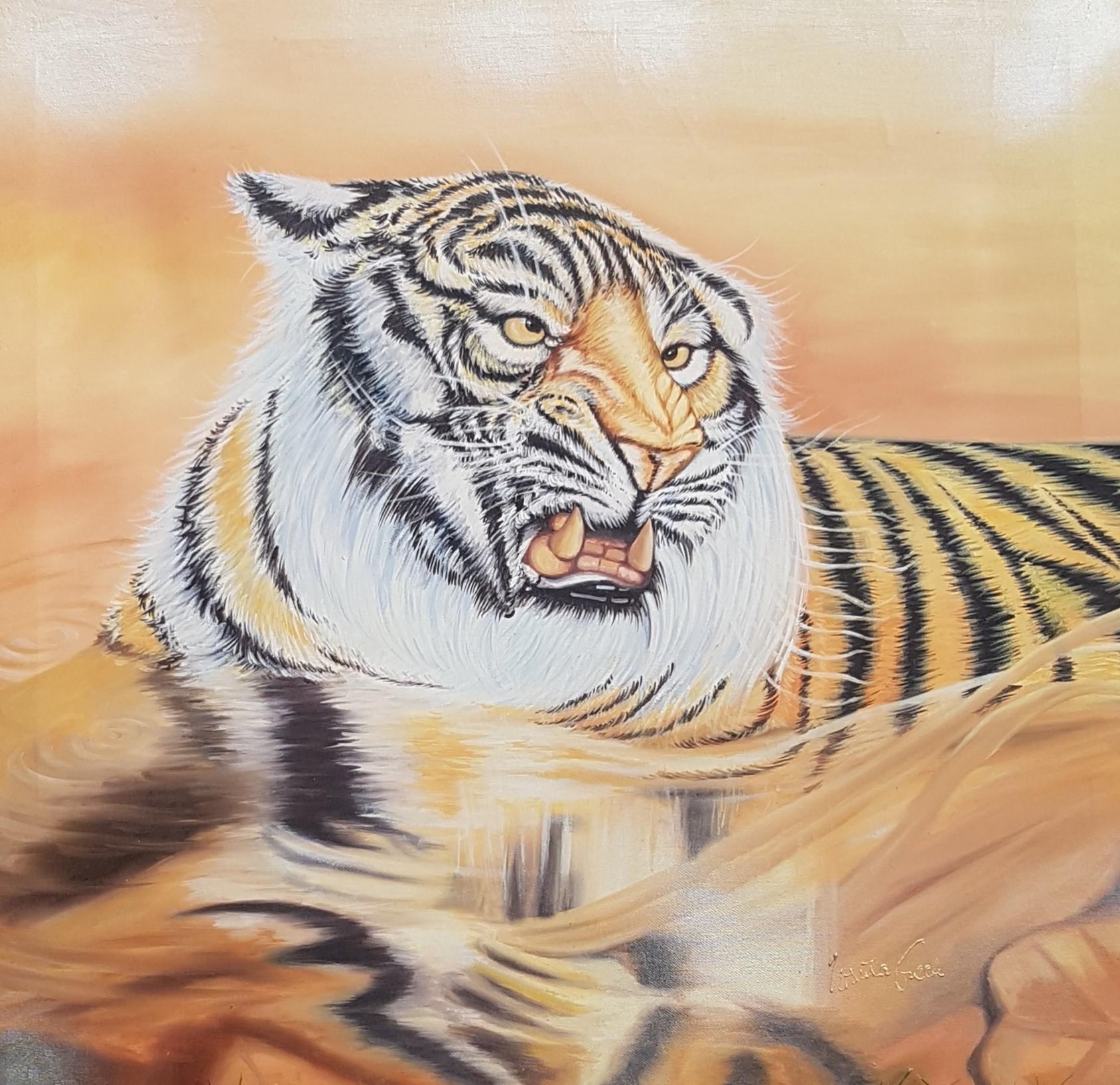 What do you want to make those eyes that me for (Technik: Ölmalerei auf Leinwand 81,5 X 79,5 X 2 cm)