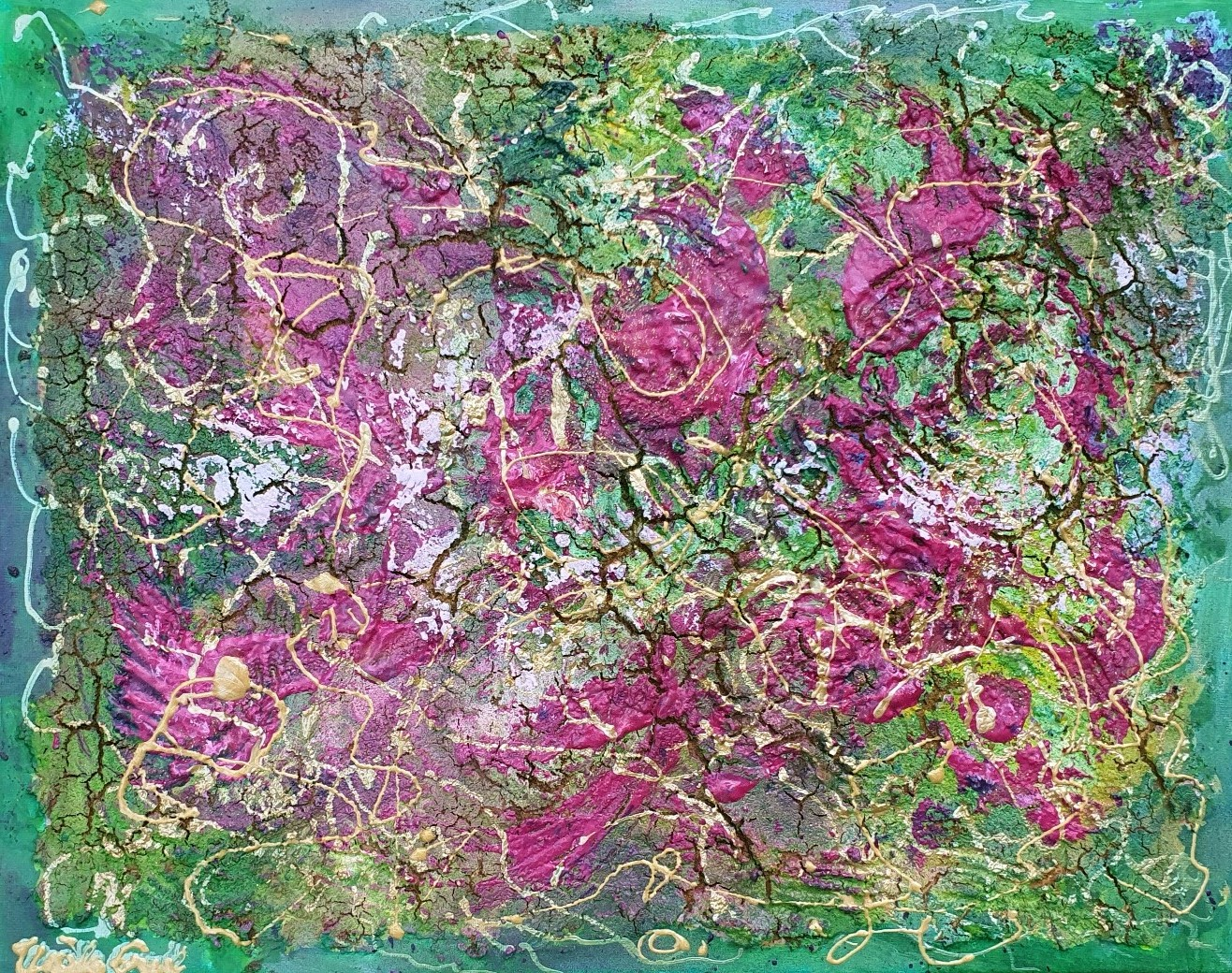 Roses forever on Canvas (Acryl/Mixed Media )