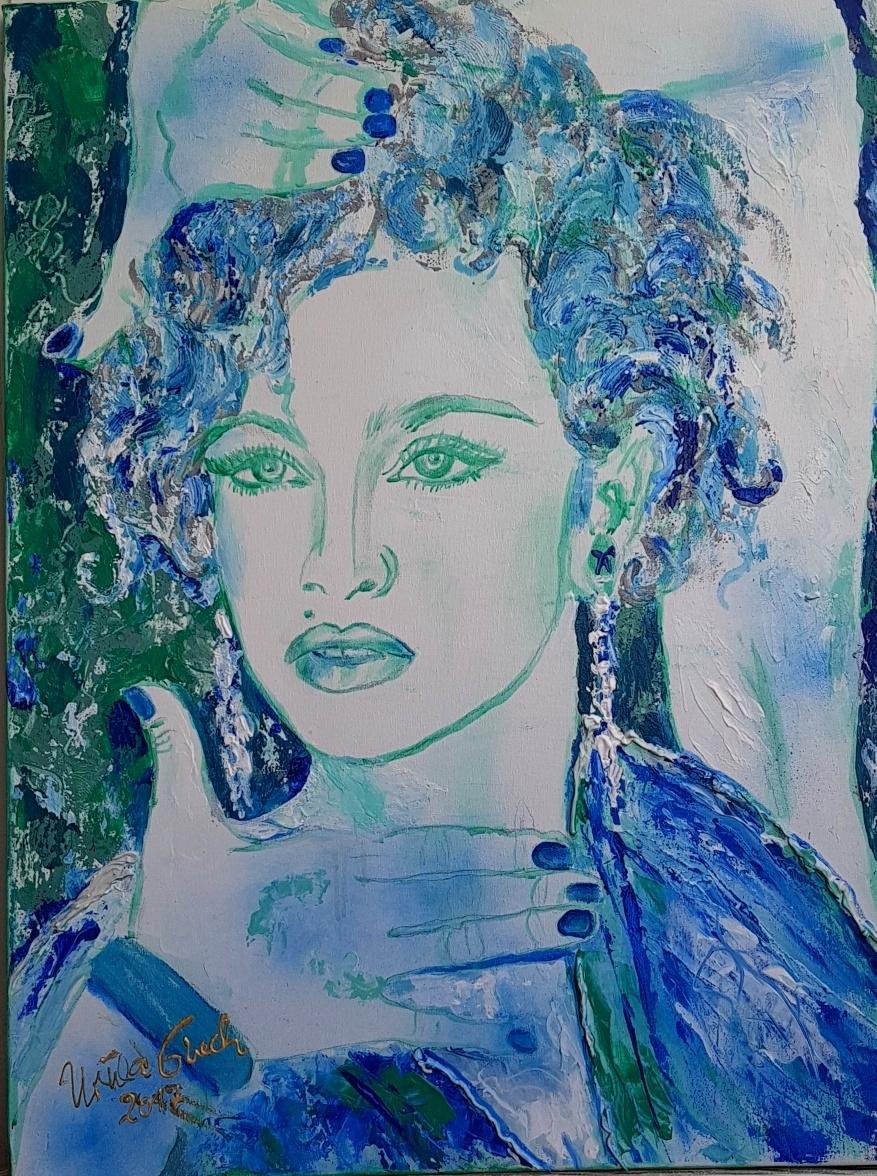 Madonna: Like a Virgin  (Technik: Acryl/Mixed Media auf Leinwand   80 X 60 cm)