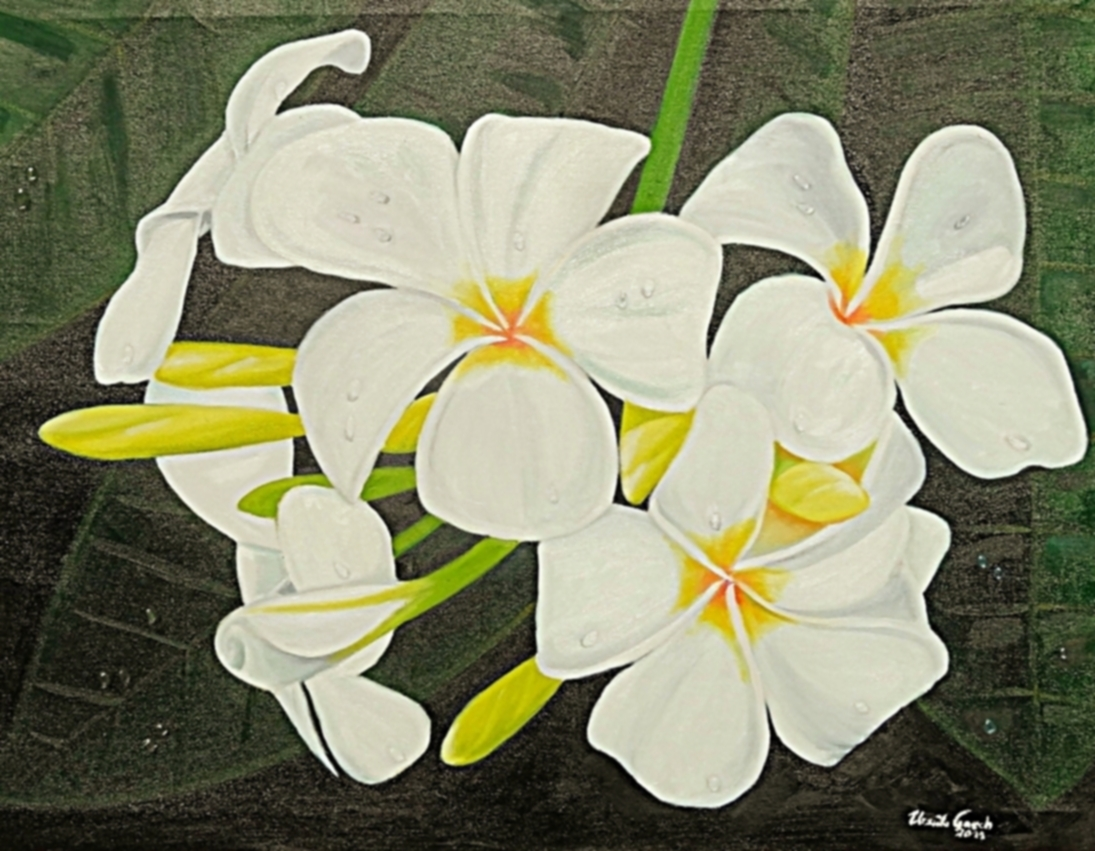 weiße Leelawadee (Technik: Öl      auf Leinwand 1,20 m X 90 cm)