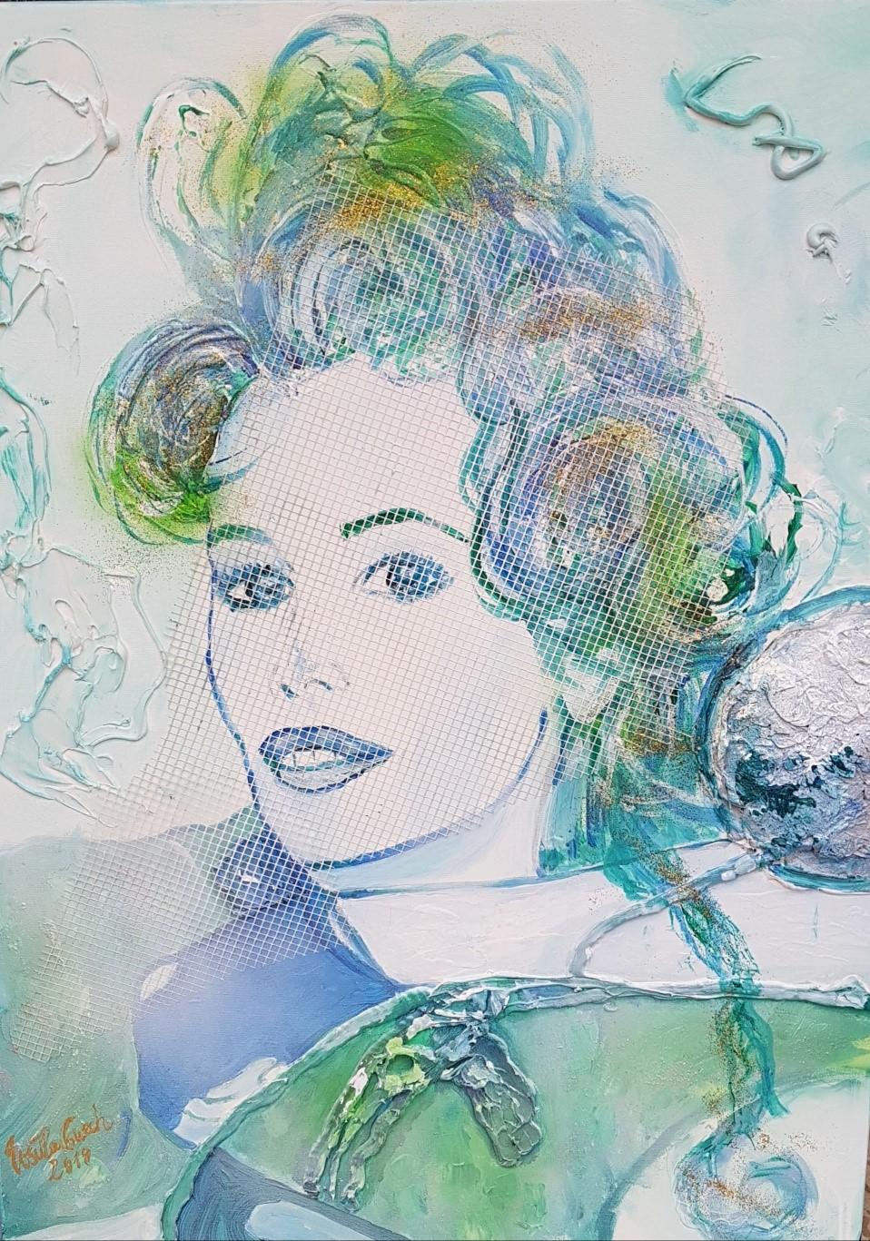 made in Germany Claudia Schiffer (Technik: Acryl auf Canvas   80 X 60 X 1,5 cm)