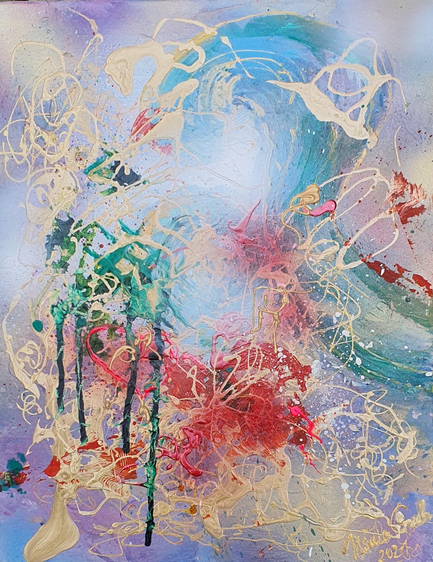 Summer-memories (Technic: Acryl/Mixed Media on Canvas *40 X 50 X 2 cm)