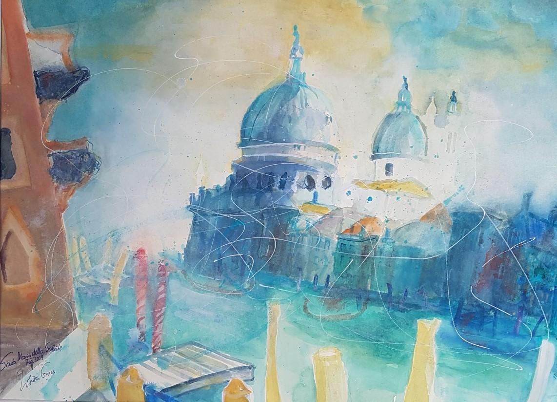 Santa Maria Venecia (Watercolor 56 X 76 cm, Fabriano sat. 650 g)