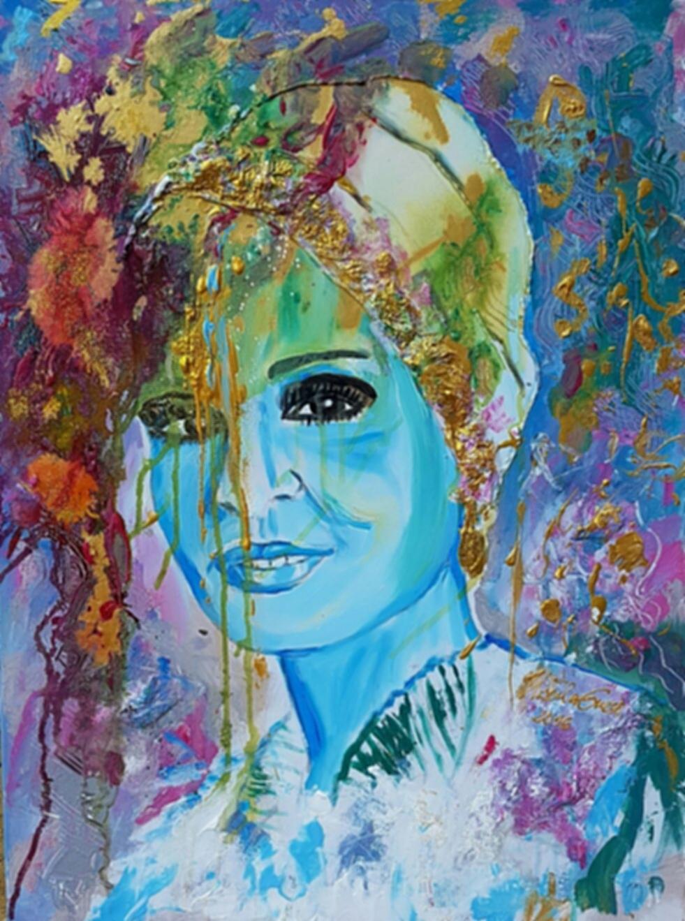 Sheika Mozah  (Technik: Acryl/Mixed Media     Leinwand: 60 X 80 cm)