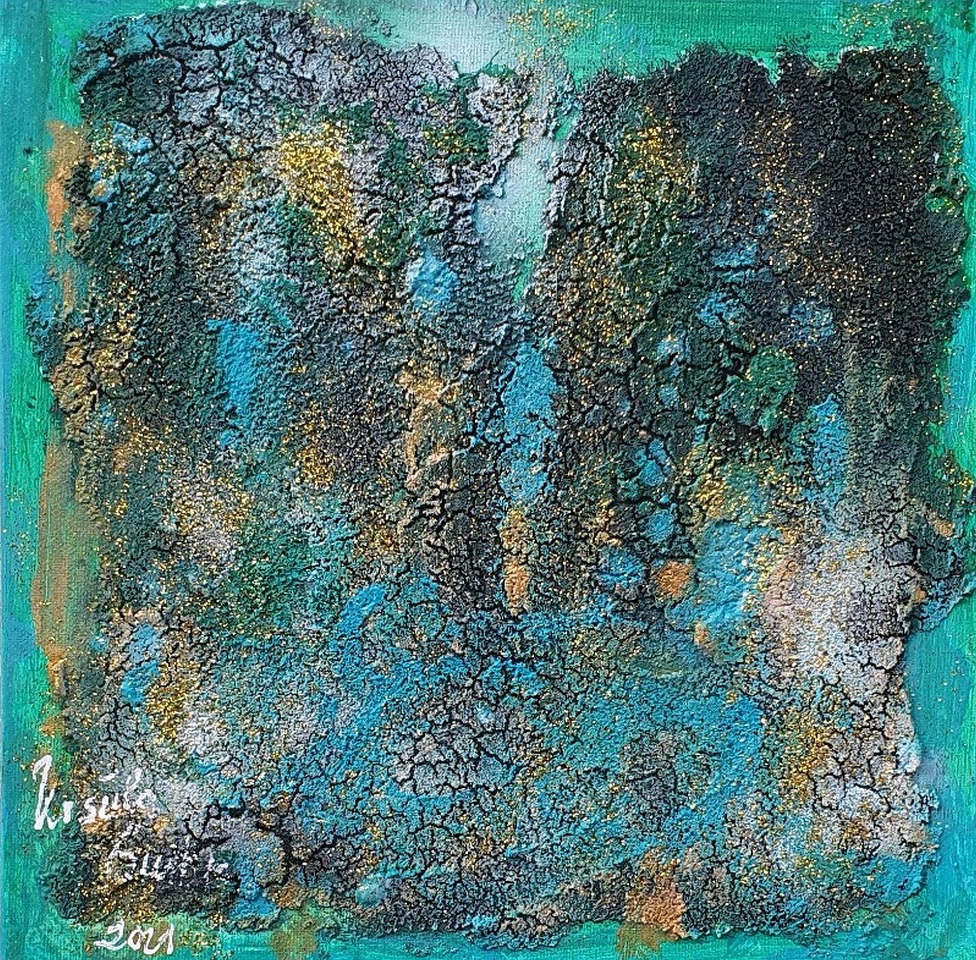 light in the jungle (Acryl on Canvas 29 X 29 X 3 cm)