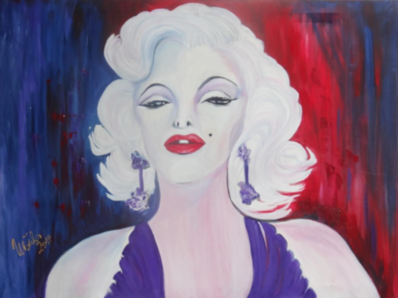 Marilyn       (Technik: Öl   Leinwand: 1,20 m X 56 cm)