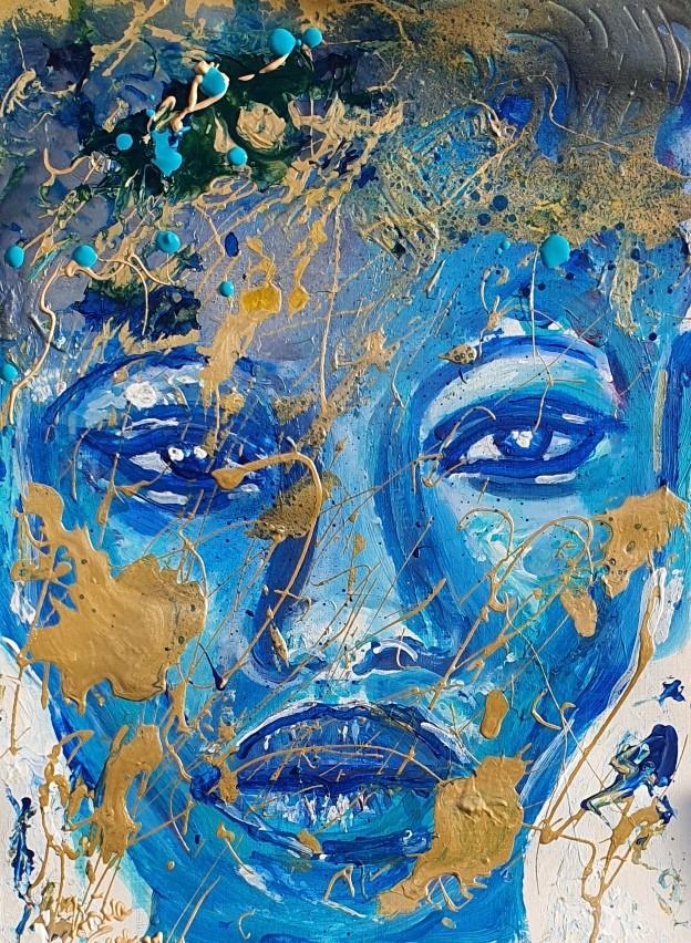 Coco (Acryl/Mixed Media on Canvas 48 X 36 X 0,1 cm)