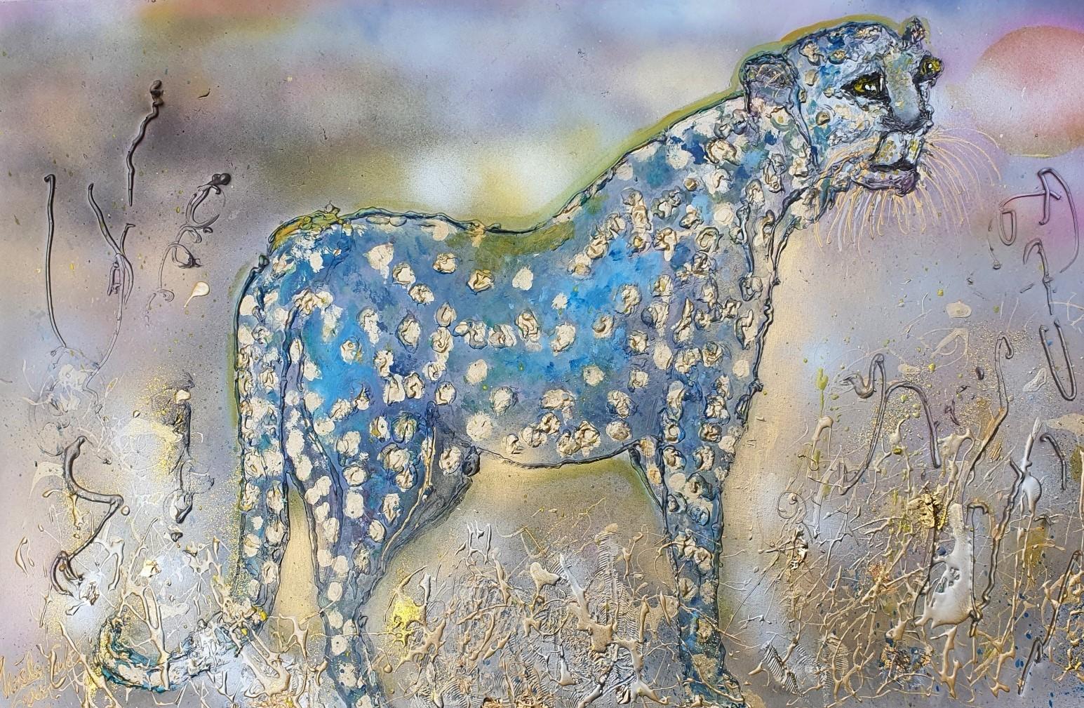 everyone's  a winner  (Technic: Acryl, Papergold 24 Karat) Mixed Media on Canvas 115 X 75 X 1,5 cm