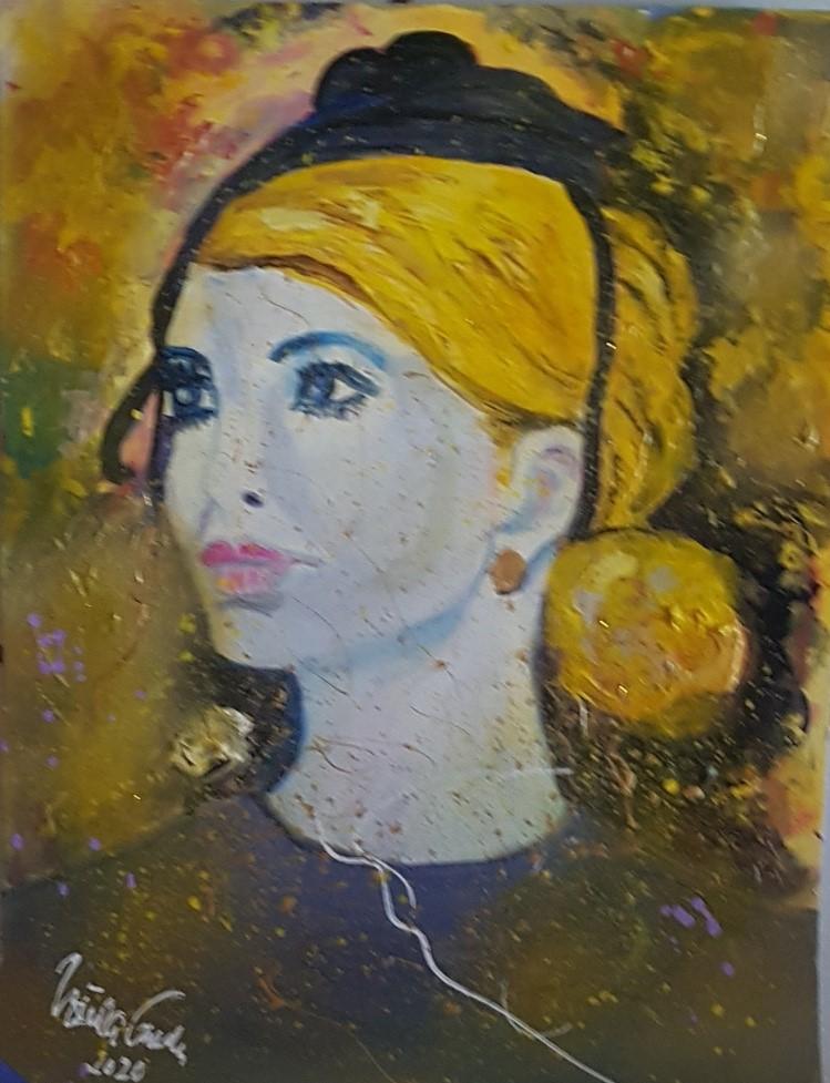 Ivanka (Technik: Acryl/Mixed Media auf Special-Acryl-Papier 30 X 39,5 X 0,2 cm)