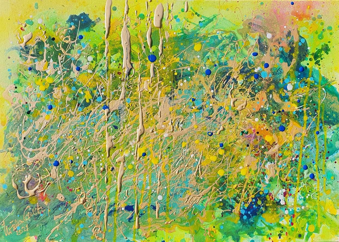Summerfeeling 2021 (Technic: Acryl, Mixed Media on Canvas 70 X 50 X 1,5 cm)