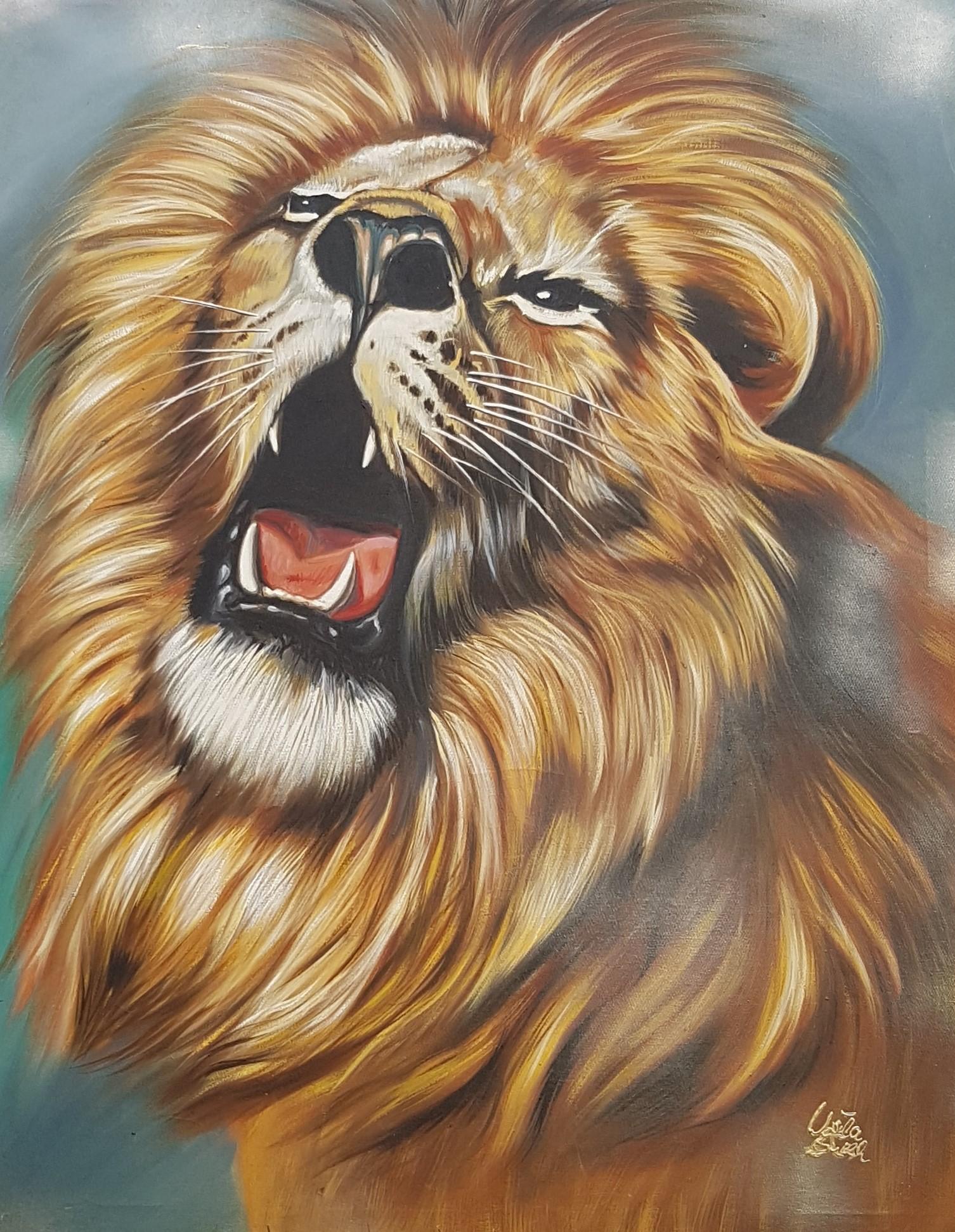 I am the king  (Technik: Ölmalerei auf Leinwand, 89,5 X 1,19 X 2 cm)