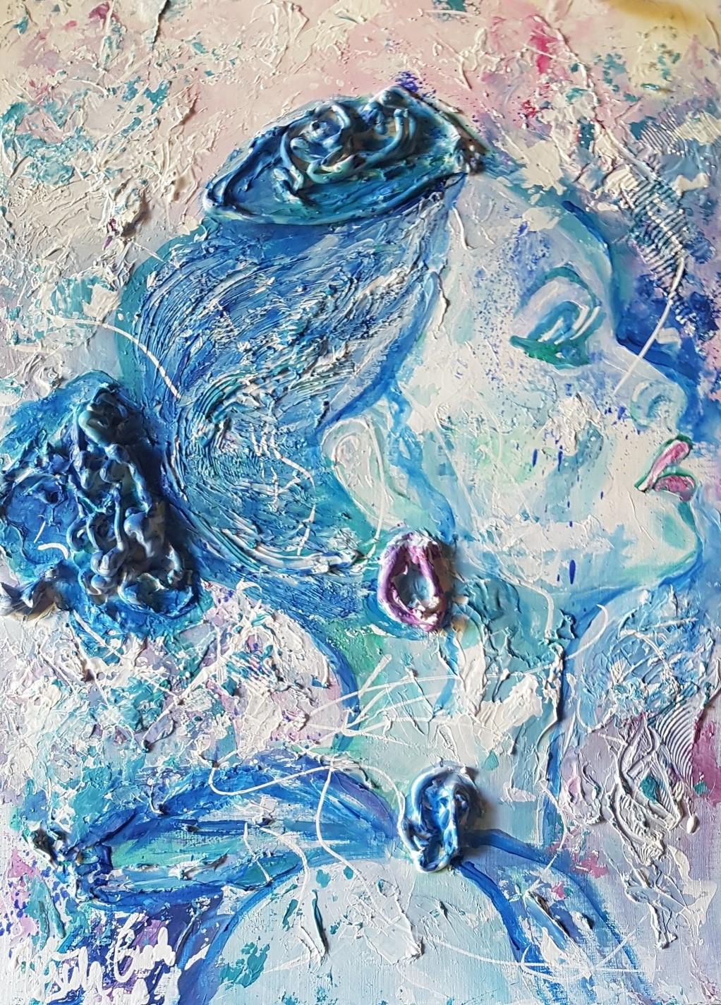 Tonight  (Acryl/Mixed Media-Technik, expressiv auf Öl/Acryl-Papier 30 X 40 X 0,2 cm)