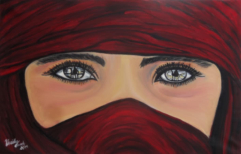 Tuareg (Targia)        (Technik: Öl     Leinwand: 85 X 55 cm)