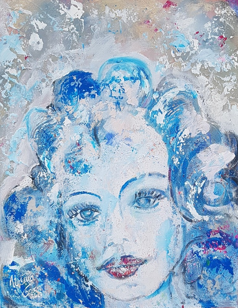 Angel in the morning (Technic: Acryl/Mixed Media on Canvas 40 X 50 X 1,5 cm)