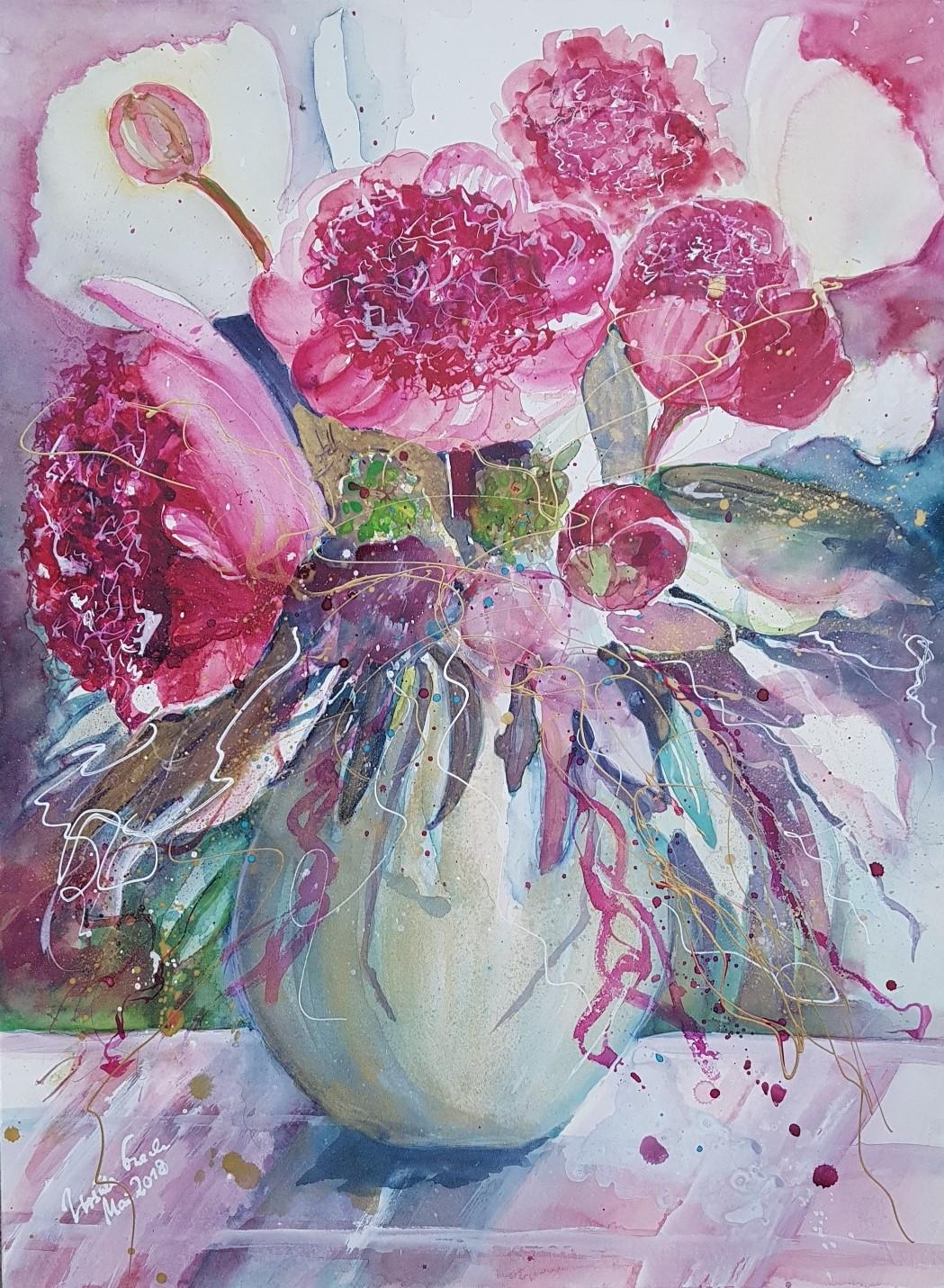 Decoration for you (Technik: Aquarell auf Fabriano 650 g  56 X 76 cm)