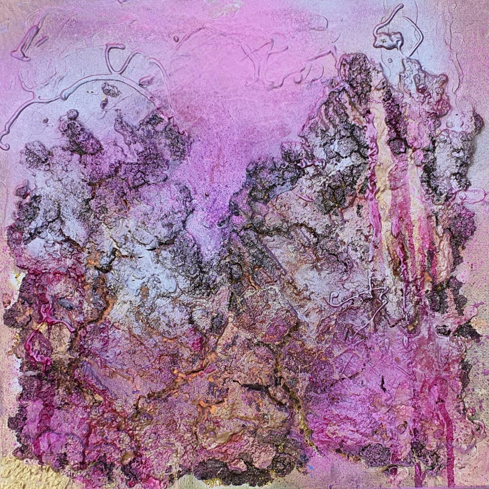 I love my life (Technik: Acryl/Mixed Media auf Canvas, 30 X 30 X 0,3 cm)