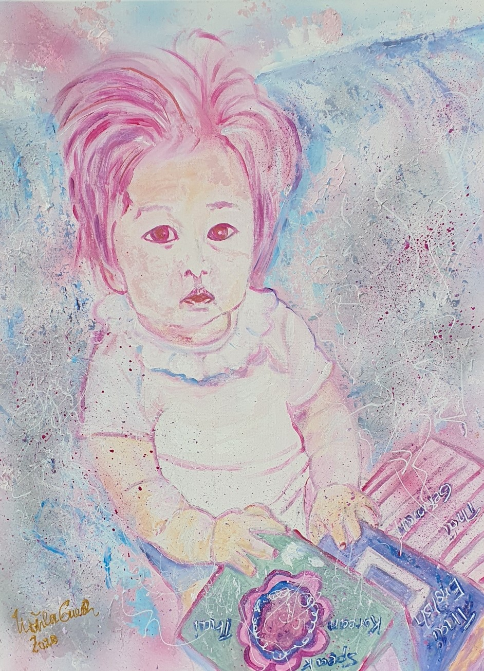 Baby Love (Technic: Acryl/Mixed Media on Canvas 80 X 60 X 1,5 cm)