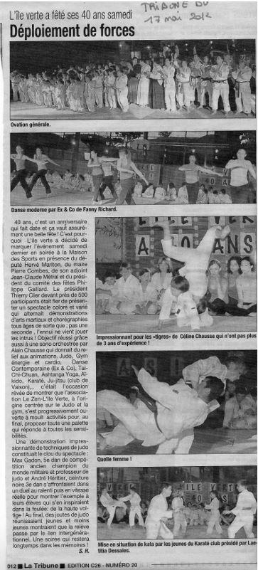 40 ans de l'Ile Verte (Tribune mai 2012)