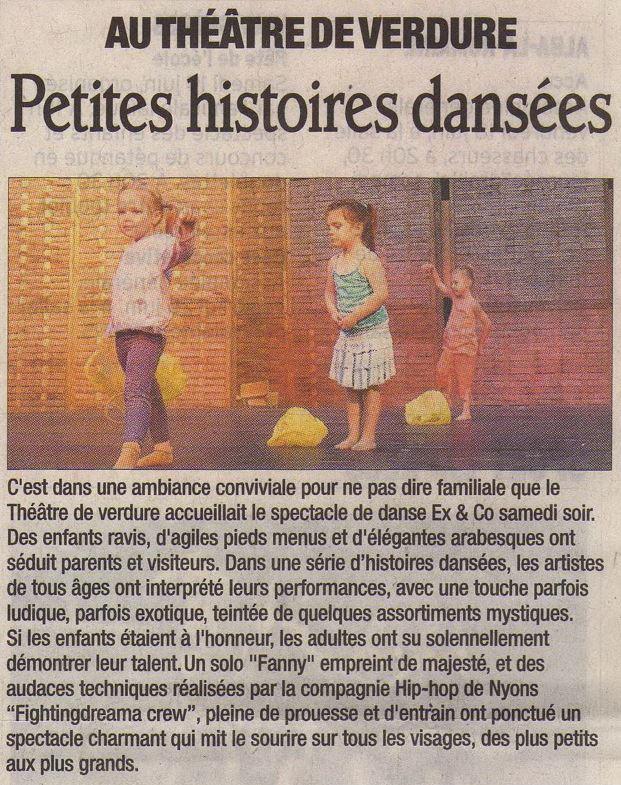 Premier spectacle d'Ex&Co (Dauphiné juin 2009)