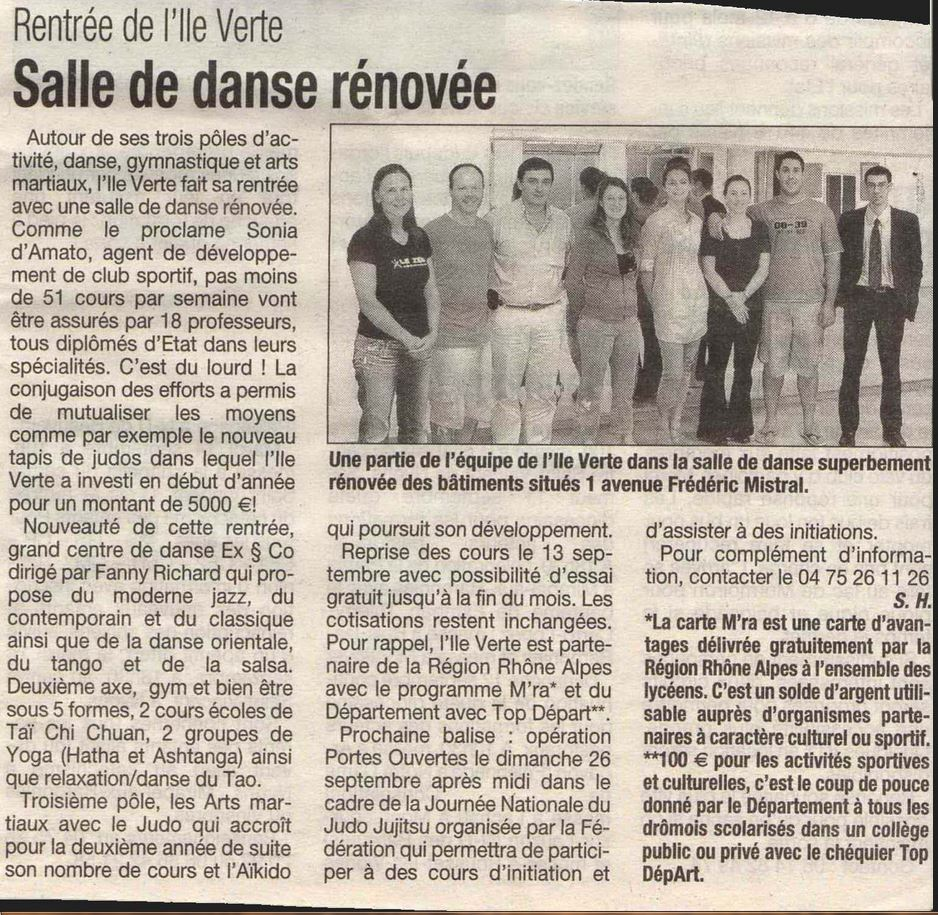 Rentrée Ile Verte 2013