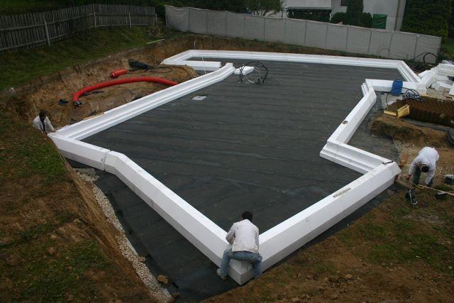 Randsteine der Bodenplattendämmung