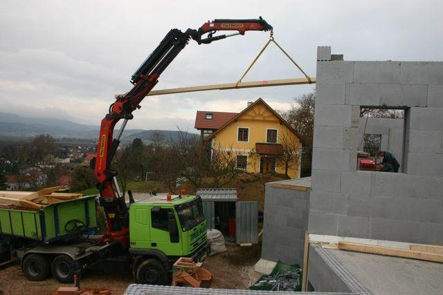 Dachstuhl aufsetzen