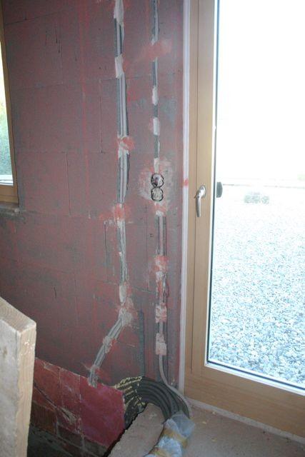 Rohinstallation und Fensteranschlüsse