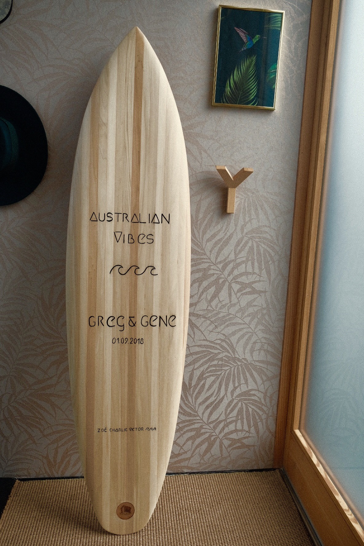 Planche En Bois Deco déco surf & mobilier - little shed surfboard_fabricant de