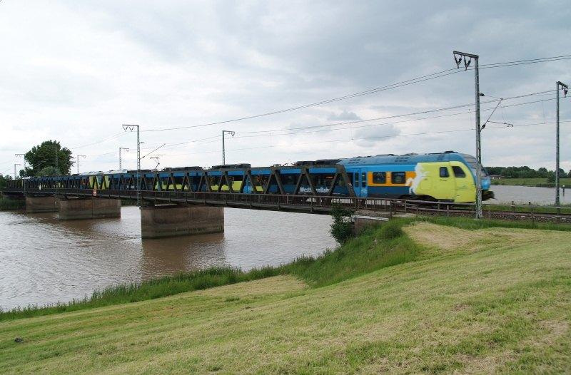 Eisenbahnbrücke über die Leda