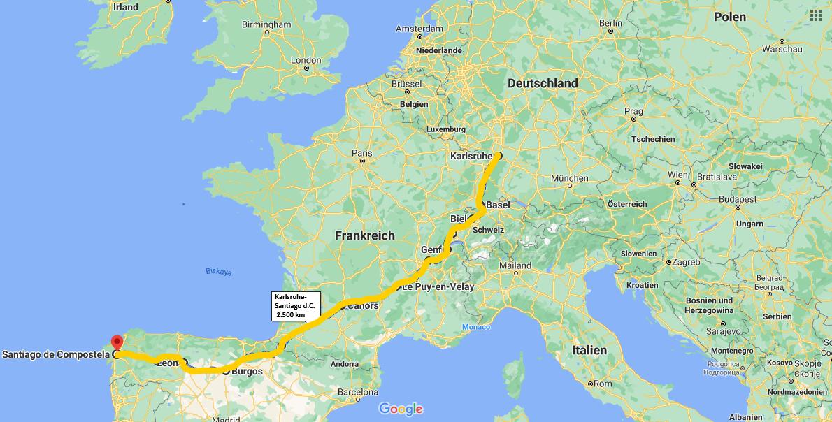 Quer durch Europa zu Fuß