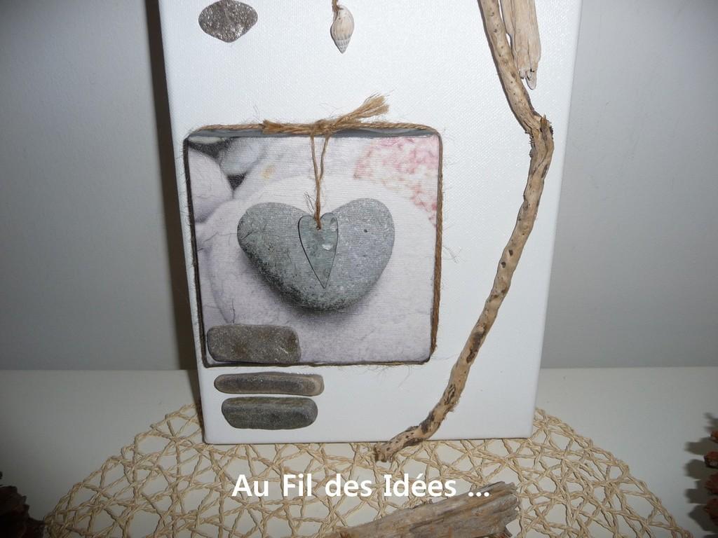"""Trio """"Bord de mer"""" (20 x 40 cm) N°1- Créations Octobre/Novembre 2010"""