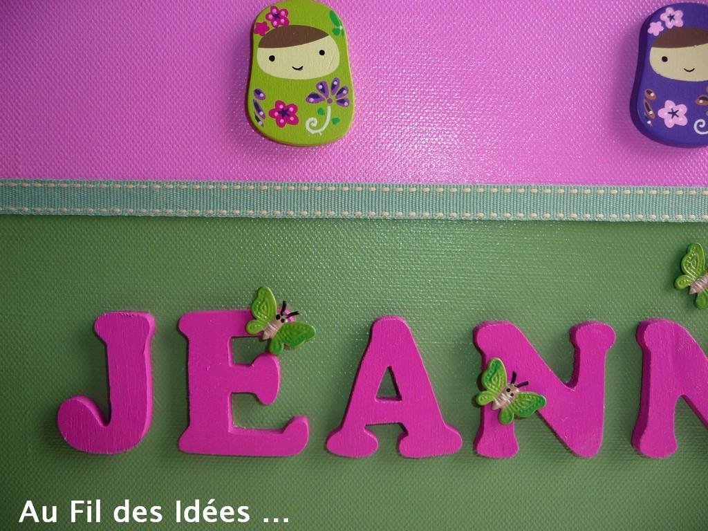 """Tableau prénom 'Jeanne"""" - Création Janv 2011"""