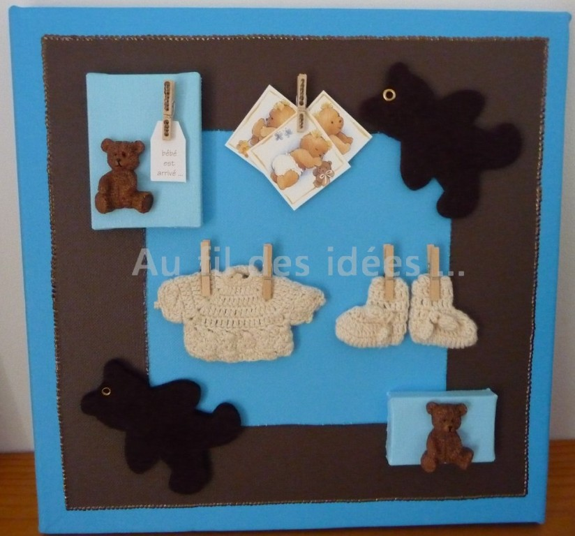"""Cadre """"Faire Part"""" (30 x 30 cm) - Création mars 2009"""