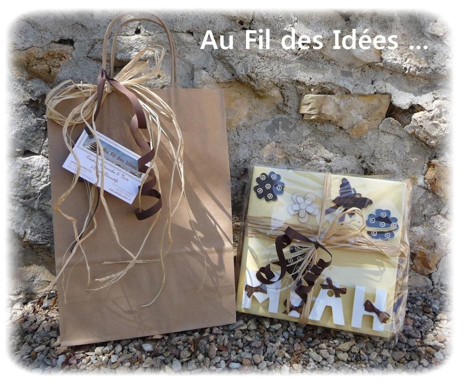 """Emballage Tableau prénom """"Miah"""" - Création Juin 2011"""