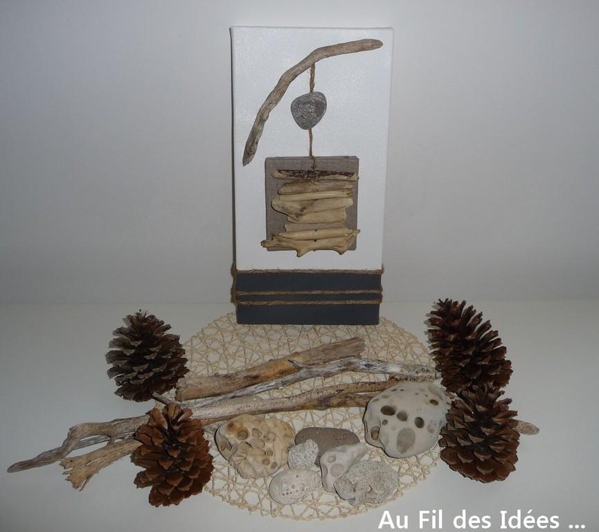 """Trio """"Bord de mer"""" (20 x 40 cm) N°3- Créations Octobre/Novembre 2010"""