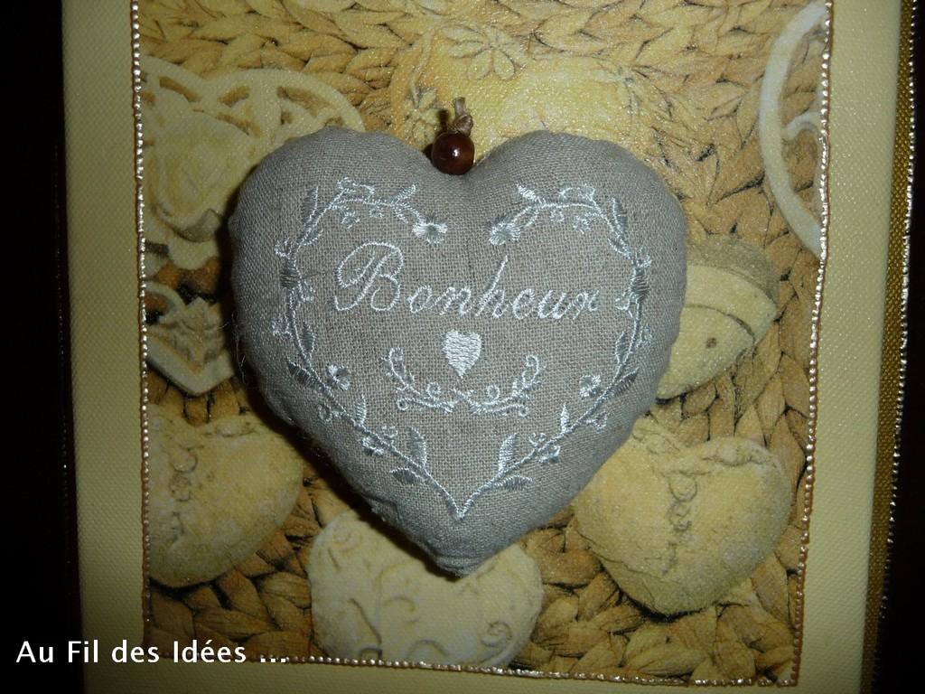 """Tableau """"Coeur gros comme ça !' - 30 x 30 cm - Création Déc 2010 / Janv 2011"""