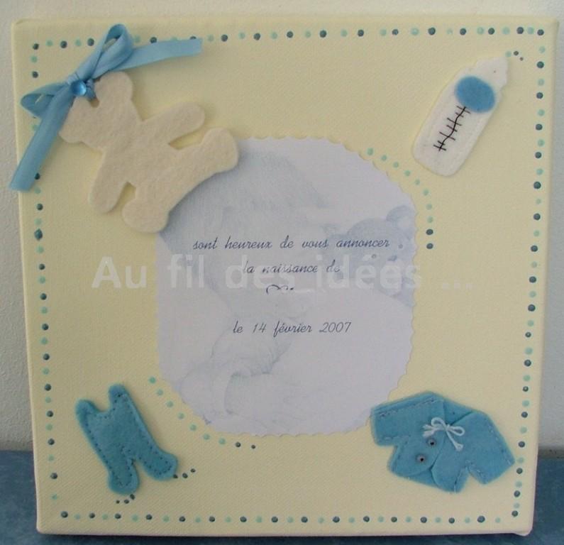 """Cadre """"Faire Part"""" (20 x 20 cm) - Création mars 2007"""