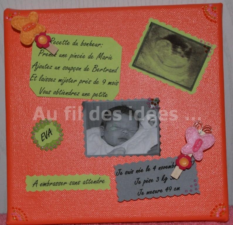 """Cadre """"Faire Part"""" (20 x 20 cm) - Création octobre 2007"""