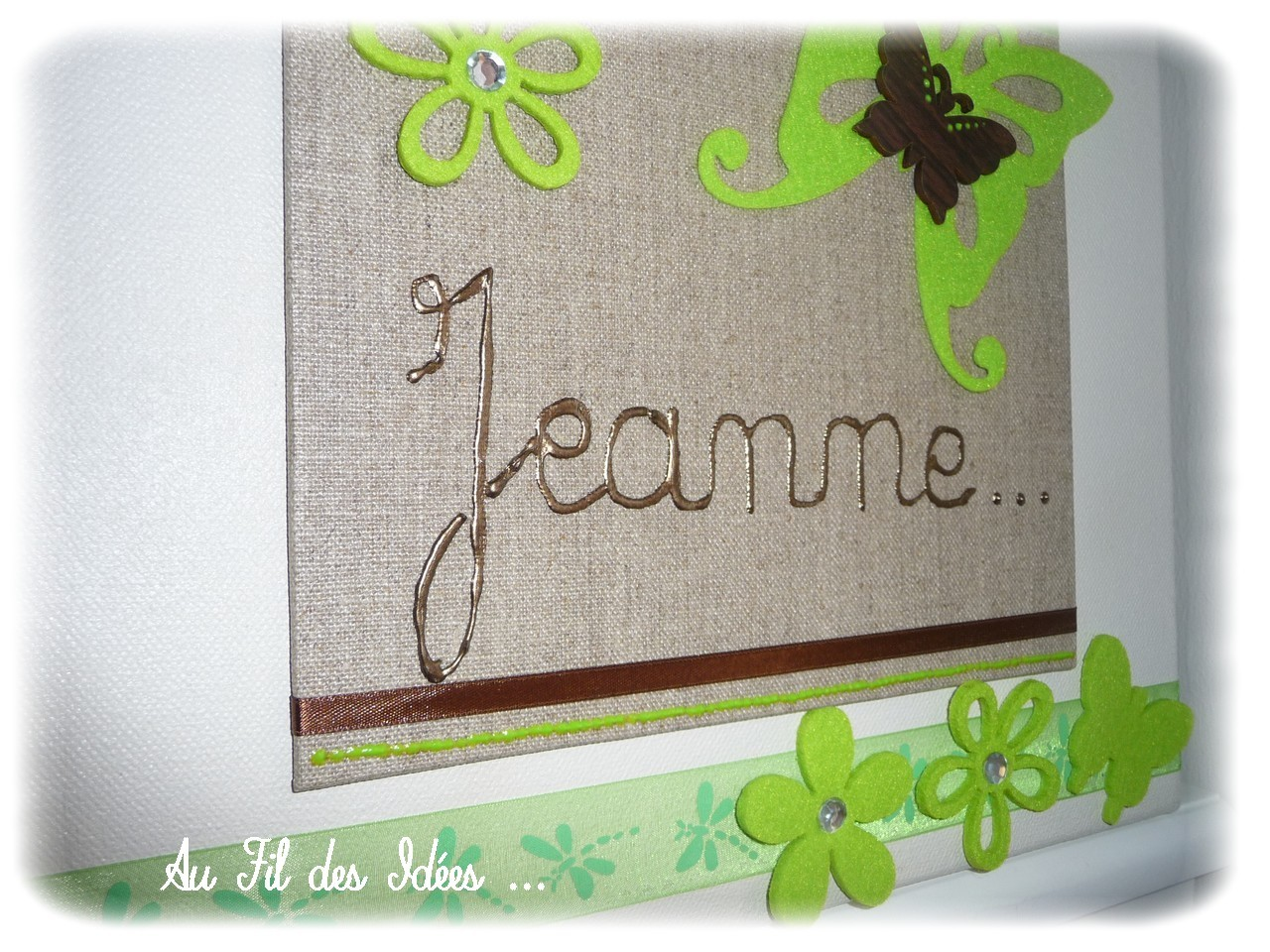 "Tableau Prénom ""Jeanne"" Créa Octobre 2012"