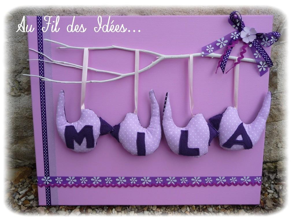 """""""Tableau Mila"""" Créa avril 2012"""