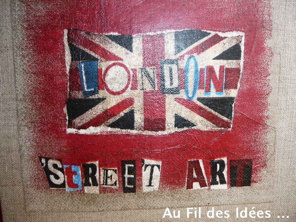 """London"" 30 x 30 cm - Création Février 2011"