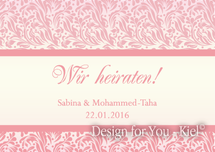 Sabina & Mohammed © Design for You -Kiel