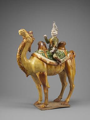 """""""Ausländer auf Kamel"""", Tan (618-907), Ton mit Sancai, Idemitsu Museum"""