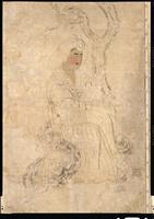 唐王朝の婦人の屏風
