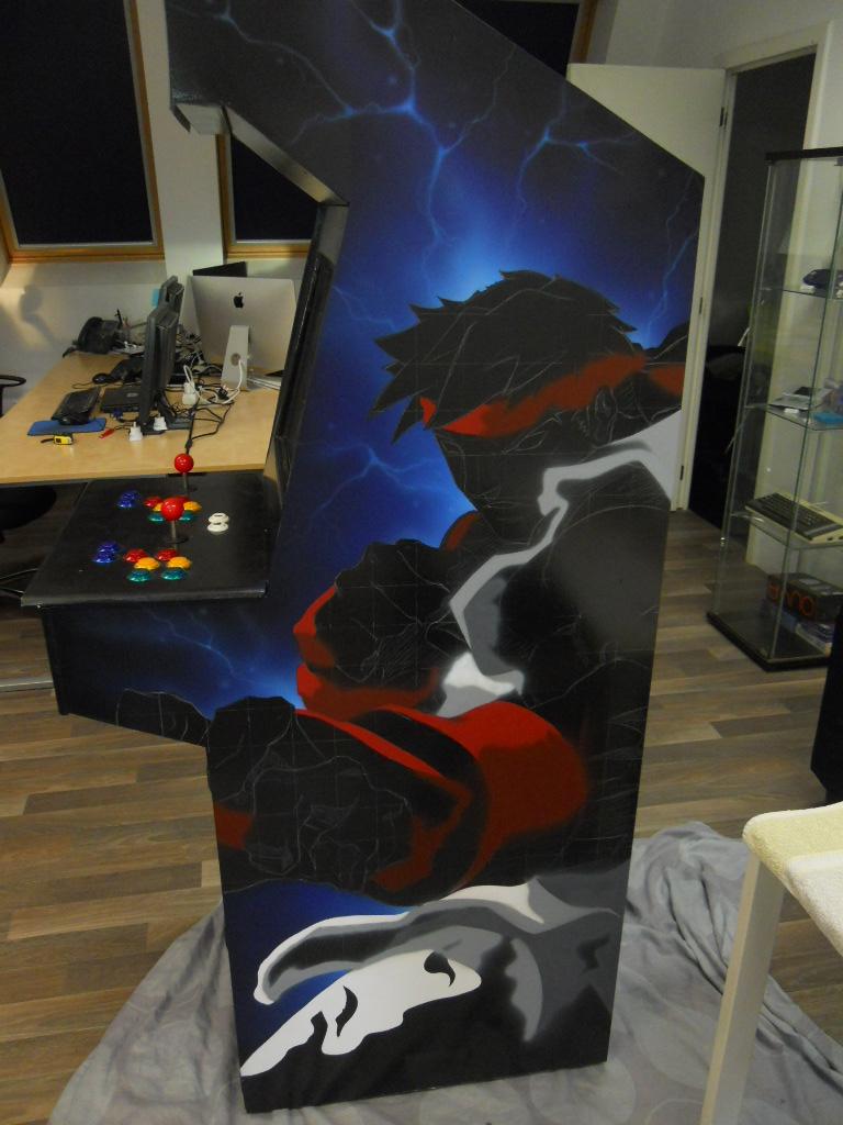 Customisation borne d'arcade -Ryu, Street fighter-